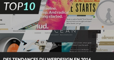 10 TENDANCES DU WEB DESIGN EN 2016